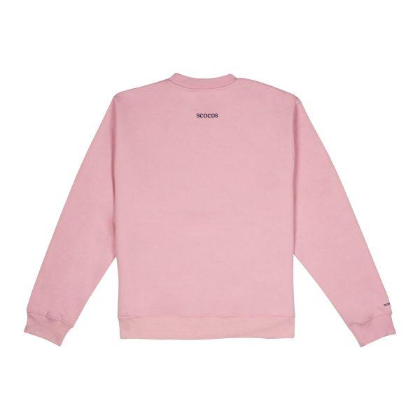 Sudadera rosa adulto unisex back
