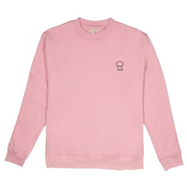 Sudadera rosa adulto unisex front