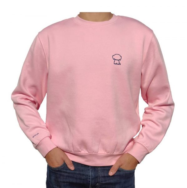 Sudadera rosa modelo front
