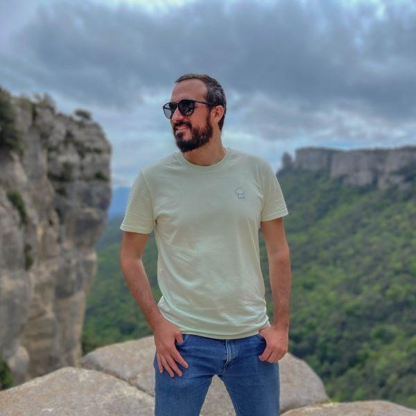 Camiseta amarillo pastel - malva SCOCOS
