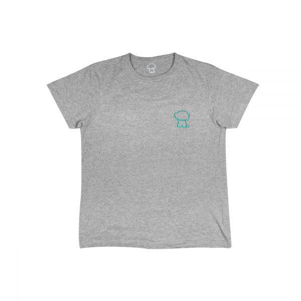 Camiseta gris logo azul bebe front