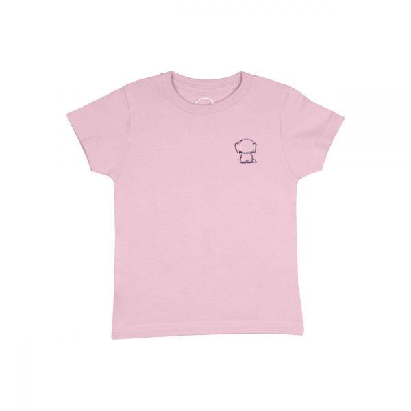 Camiseta rosa logo malva front