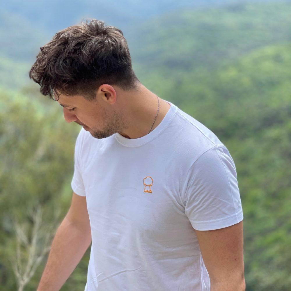 Camiseta blanco-naranja SCOCOS Unisex